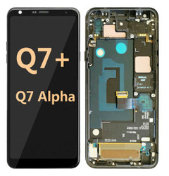 LG Q7 Alpha with Frame Black