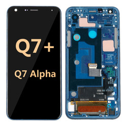LG Q7 Alpha with Frame Blue