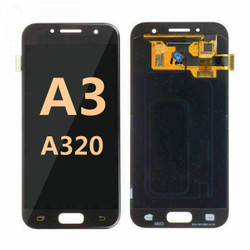 Back and front for Samsung Galaxy A3 (A320) LCD Black