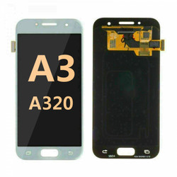 Back and front for Samsung Galaxy A3 (A320) LCD white