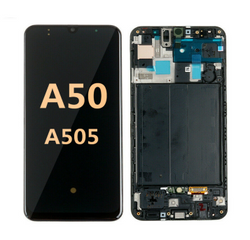 Back and front with Frame Samsung Galaxy A50/A505 LCD Black