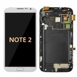Back and front with Frame for Samsung Galaxy Note 2 LCD White