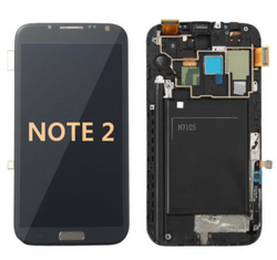 Back and front with Frame for Samsung Galaxy Note 2 LCD Black