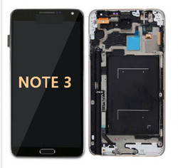 Back and white with Frame for Samsung Galaxy Note 3 LCD Black