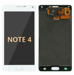Back and front for Samsung Galaxy Note 4 LCD white