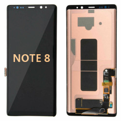 Back and front for Smasung Galaxy Note 8 LCD Black