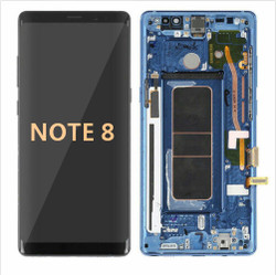 Back and front with frame for Samsung Galaxy Note 8 LCD Blue