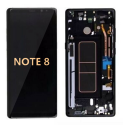 Back and front with frame for Samsung Galaxy Note 8 LCD Black