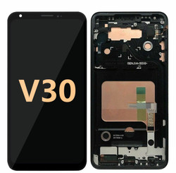 Lcd screen for LG V 30 Black  withe frame