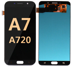 Back and front for Samsung Galaxy A720/A7 2017 LCD balck