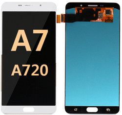 Back and front for Samsung Galaxy A720/A7 2017 LCD White