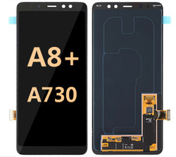 Back and front for Samsung Galaxy A8 Plus/A730 LCD Black