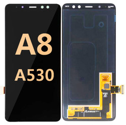 Back and front for Samsung Galaxy A8/A530 LCD black