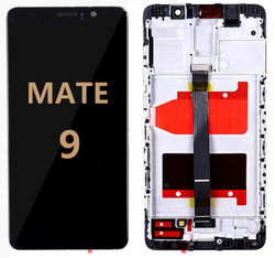 Back and front with frame Huawei Mate 9 LCD black