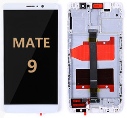 Back and front with frame Huawei Mate 9 LCD White