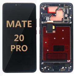 Back and front with frame for Huawei Mate 20 Pro LCd black