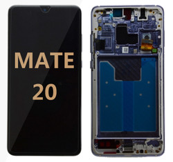 Back and front with frame for huawei mate 20 LCD black