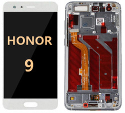 Back and front with frame for Honor 8 LCD black