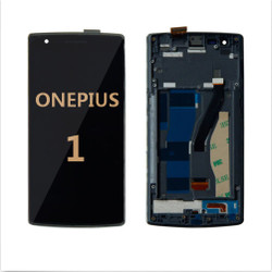 Back and front with frame for OnePlus 1 LCD black