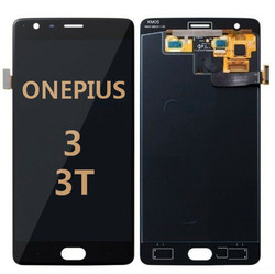 Back and front for OnePlus 3 A3000/ A3003 LCD Black