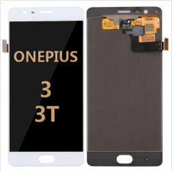 Back and front for OnePlus 3 A3000/ A3003 LCD White