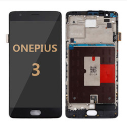 Back and front with frame for OnePlus 3 LCD black