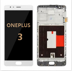 Back and front with frame for OnePlus 3 LCD White