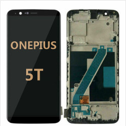 Back and front with frame for OnePlus 5T LCD Black