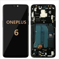 back and Front with frame for OnePlus 6 LCD Black