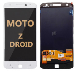 LCD and Digitizer Assembly for Moto Z Droid (1650-01) white