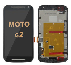 LCD and Digitizer Assembly  with Frame for Moto G2 (1068)