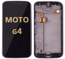 LCD and Digitizer Assembly with Frame  for Moto G4 (1625) BLACK
