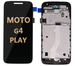 LCD and Digitizer Assembly with Frame for Moto G4 Play (1609)  black