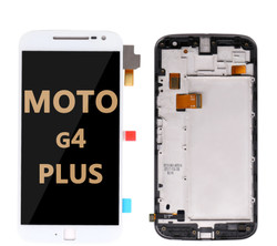 LCD and Digitizer Assembly with Frame for Moto G4 Plus (1643) WHITE