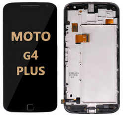 LCD and Digitizer Assembly with Frame for Moto G4 Plus (1643) BLACK