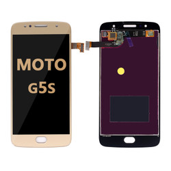 LCD and Digitizer Assembly for Moto G5S (1793) gold