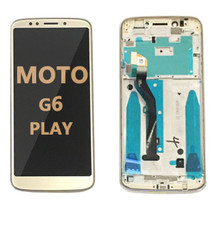 LCD and Digitizer Assembly  with Frame for Moto G6 Play (1922) gold
