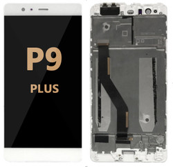 Back and front LCD and Digitizer Assembly for Huawei P9 Plus white