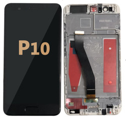 Back and front LCD and Digitizer Assembly  with Frame for Huawei P10 Black