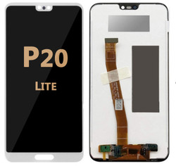 Back and front LCD and Digitizer Assembly for Huawei P20 Lite White