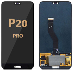Back and front LCD and Digitizer Assembly for Huawei P20 Pro Black