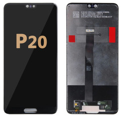 Back and front LCD and Digitizer Assembly for Huawei P20 Black