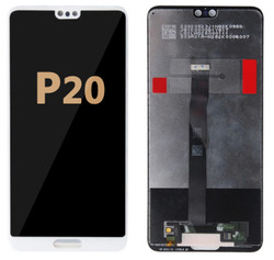 Back and front LCD and Digitizer Assembly for Huawei P10 white