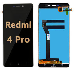 Back and front LCD and Digitizer Assembly for Redmi 4 pro black