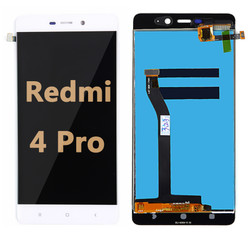 Back and front LCD and Digitizer Assembly for Redmi 4 pro white