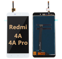 Back and front LCD and Digitizer Assembly for Redmi 4A/4A Pro white