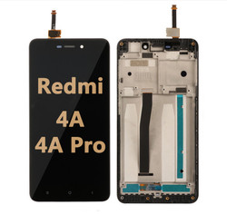 Back and front LCD and Digitizer Assembly with Frame for Redmi 4A/4A Pro Black