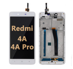 Back and front LCD and Digitizer Assembly  with frame for Redmi 4A/4A Pro White