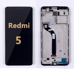 Back and front LCD and Digitizer Assembly  with Frame for Redmi 5 Black
