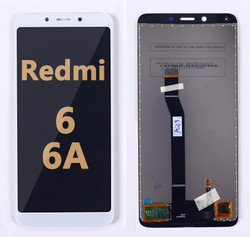 Back and front LCD and Digitizer Assembly  for Redmi 6/6A white